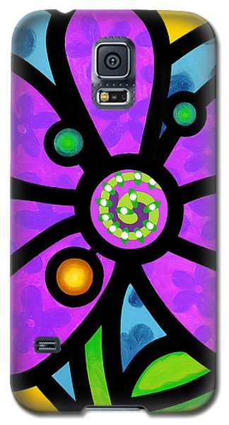 Purple Pinwheel Daisy Galaxy S5 Case