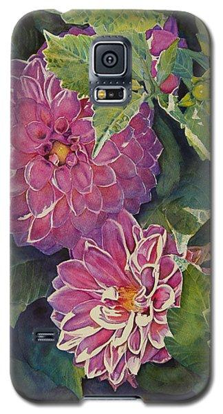 Purple Pinwheels Galaxy S5 Case