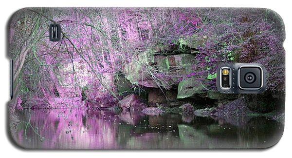 Galaxy S5 Case featuring the photograph Purple Rock Reflection by Lorna Rogers Photography