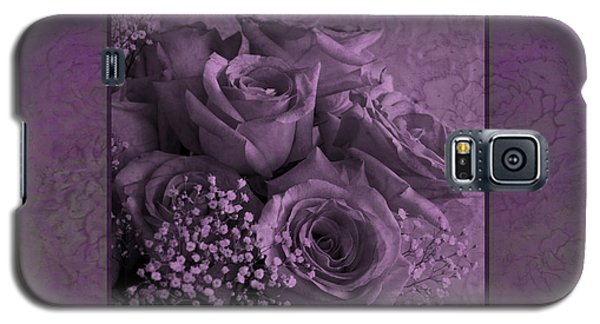 Galaxy S5 Case featuring the photograph Purple Roses Delight by Sandra Foster