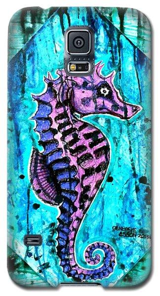 Purple Seahorse Galaxy S5 Case