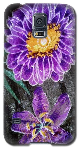 Galaxy S5 Case featuring the photograph Purple Silk by Fortunate Findings Shirley Dickerson