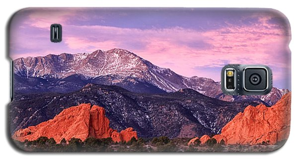Purple Skies Over Pikes Peak Galaxy S5 Case by Ronda Kimbrow