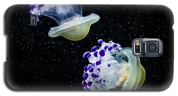 Purple Spaceships Galaxy S5 Case