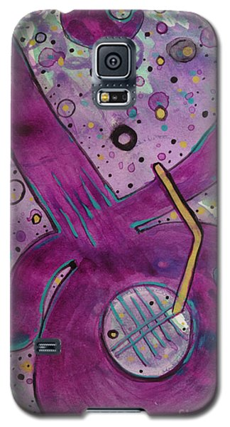Purple Strings Galaxy S5 Case