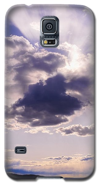 Purple Sunset On The Hudson River Galaxy S5 Case by Marianne Campolongo