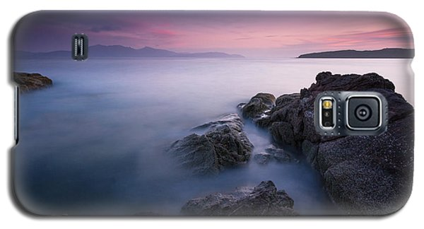 Purple Sunset With Arran Views Galaxy S5 Case
