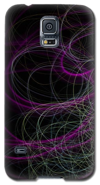 Purple Swirls Galaxy S5 Case by Cherie Duran