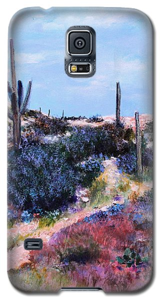 Galaxy S5 Case featuring the painting Purple Time Of Day by M Diane Bonaparte