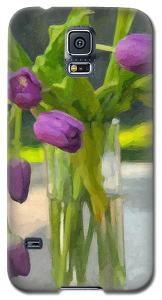 Purple Tulips Galaxy S5 Case by Kenny Francis
