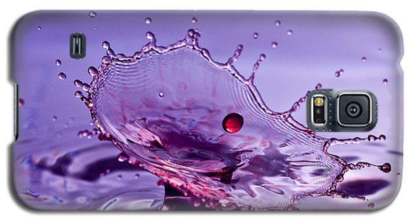 Purple Water Splash Galaxy S5 Case