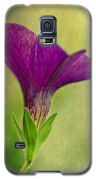 Purple Wave Petunia Galaxy S5 Case by MaryJane Armstrong