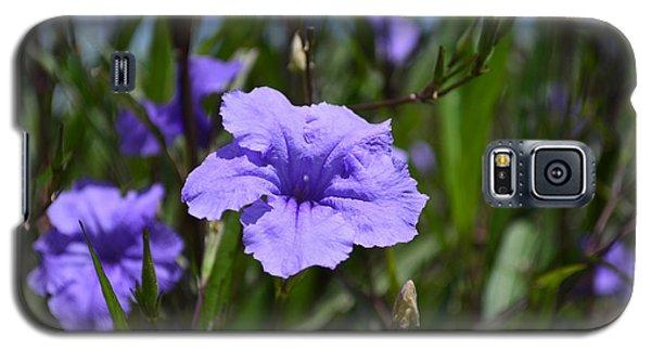 Purple Wild Flower Galaxy S5 Case