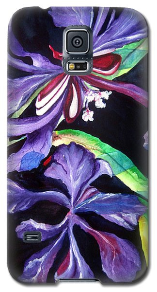 Purple Wildflowers Galaxy S5 Case by Lil Taylor