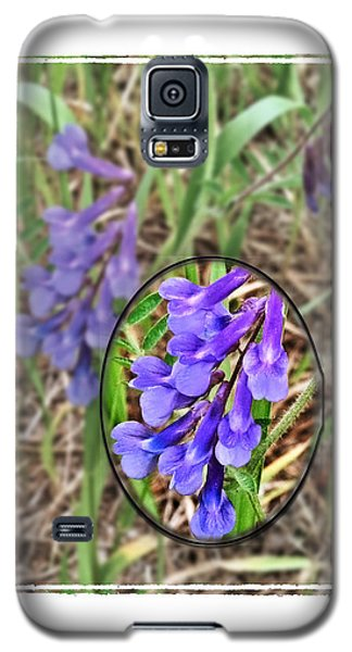 Purple Wildflowers Galaxy S5 Case