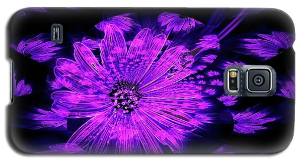 Galaxy S5 Case featuring the digital art Purple Wisps Of Flower by Amanda Eberly-Kudamik