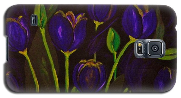Galaxy S5 Case featuring the painting Purpleluscious by Celeste Manning