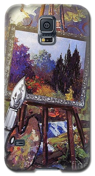 Galaxy S5 Case featuring the painting Put Color In Your Life by Eloise Schneider