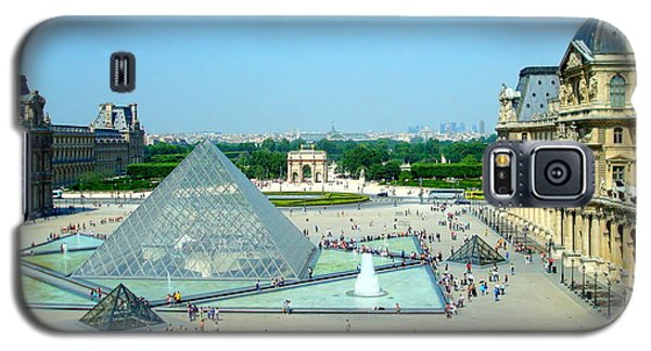Galaxy S5 Case featuring the photograph Pyramid At The Louvre by Kay Gilley