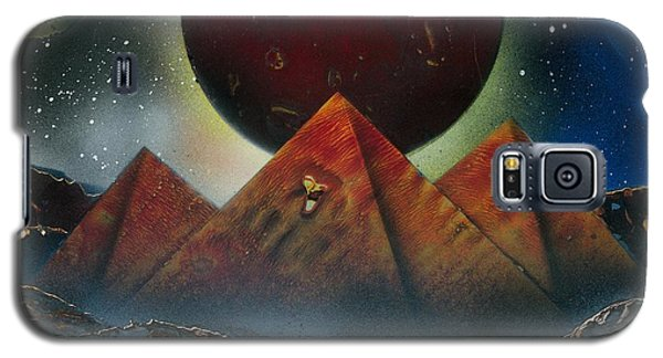 Galaxy S5 Case featuring the painting Pyramids 4663 by Greg Moores