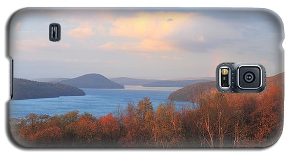 Quabbin Reservoir Enfield Lookout Late Foliage Rainbow Galaxy S5 Case