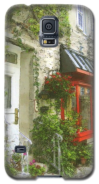 Quaint Street Scene Quebec City Galaxy S5 Case by Ann Powell