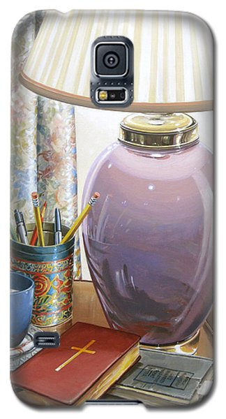Galaxy S5 Case featuring the painting Quality Time by Bob  George