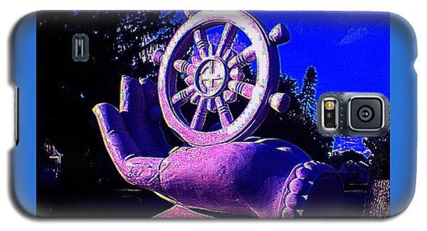 Buddhist Dharma Wheel 2 Galaxy S5 Case by Peter Gumaer Ogden