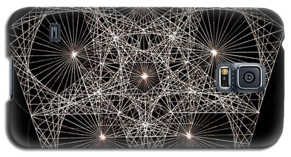 Galaxy S5 Case featuring the drawing Quantum Star II by Jason Padgett