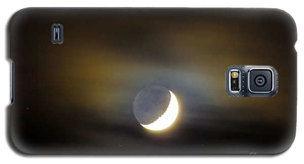 Galaxy S5 Case featuring the photograph Quarter Moon by Judy Wolinsky