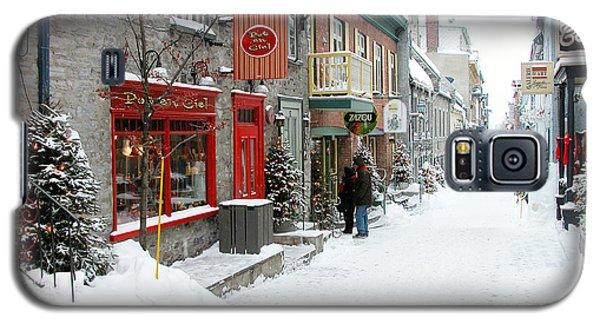 Quebec City In Winter Galaxy S5 Case by Thomas R Fletcher