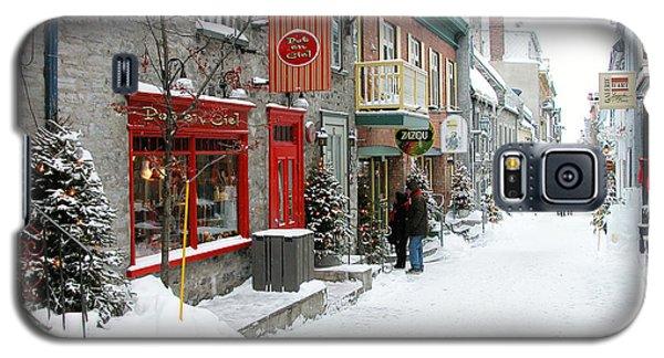 Quebec City In Winter Galaxy S5 Case
