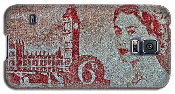 Queen Elizabeth II Big Ben Stamp Galaxy S5 Case by Bill Owen