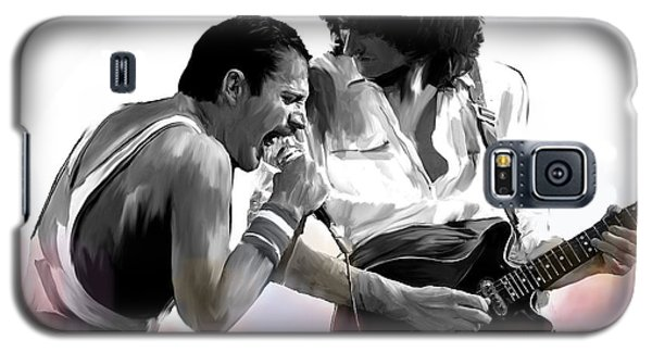 Queen II  Freddie Mercury And Brian May Galaxy S5 Case