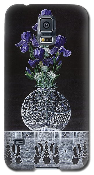Galaxy S5 Case featuring the painting Queen Iris's Lace by Jennifer Lake