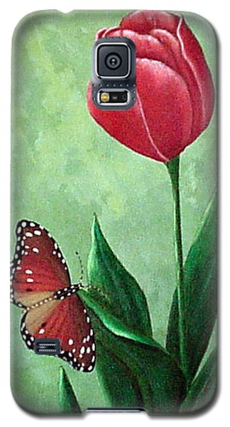 Queen Monarch And Red Tulip Galaxy S5 Case