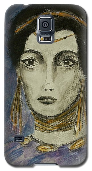 Galaxy S5 Case featuring the painting Queen Of The Nile by Tamyra Crossley