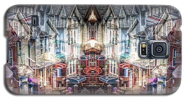 Galaxy S5 Case featuring the photograph Queens Palindrome Houses by Dave Beckerman