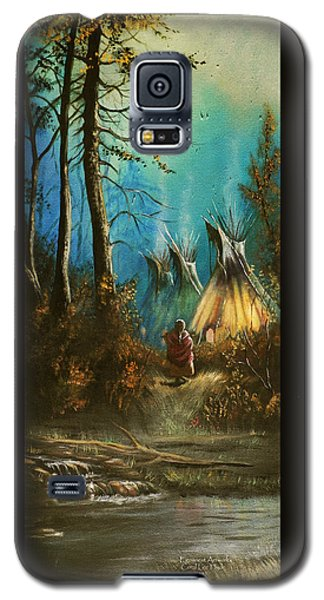 Quiet Forest With Tepees Blank Galaxy S5 Case