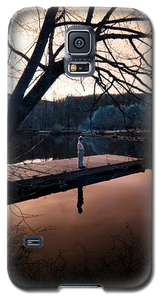 Galaxy S5 Case featuring the photograph Quiet Moment Reflecting by Rebecca Parker