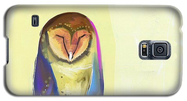 Blue Galaxy S5 Case - Quiet Owl by Cathy Walters