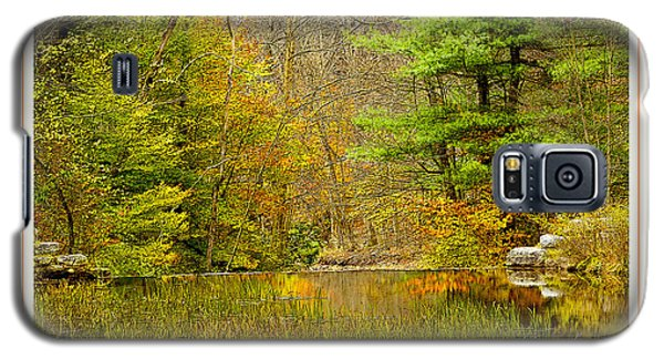Galaxy S5 Case featuring the photograph Quiet Pond In Autumn Pocono Mountains Pennsylvania by A Gurmankin
