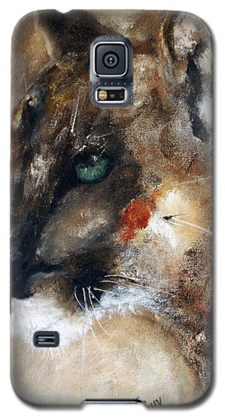 Galaxy S5 Case featuring the painting Quiet Thunder Seeker by Barbie Batson