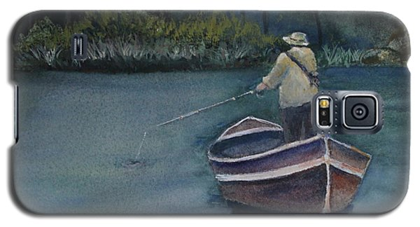 Galaxy S5 Case featuring the painting Quietude by Jan Cipolla