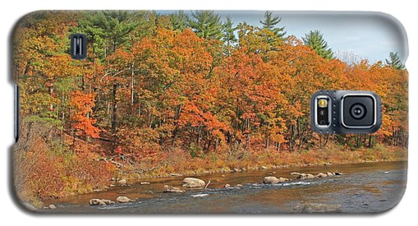 Quinapoxet River In Autumn Galaxy S5 Case