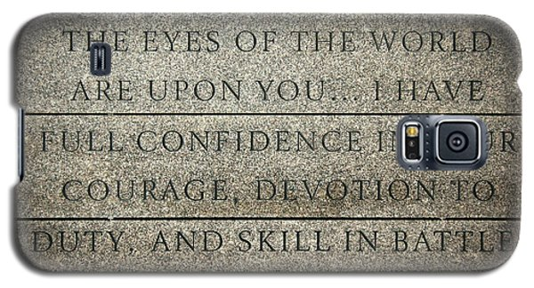 Quote Of Eisenhower In Normandy American Cemetery And Memorial Galaxy S5 Case