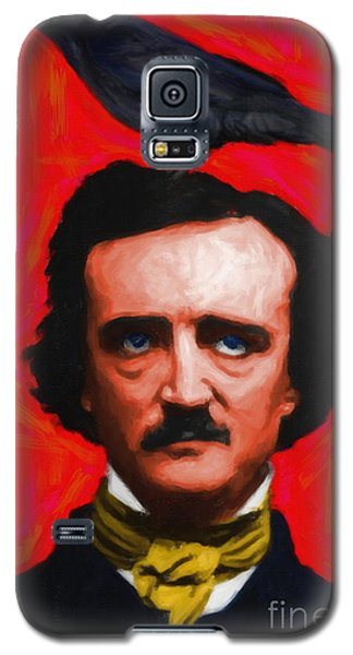 Quoth The Raven Nevermore - Edgar Allan Poe - Painterly - Red - Standard Size Galaxy S5 Case