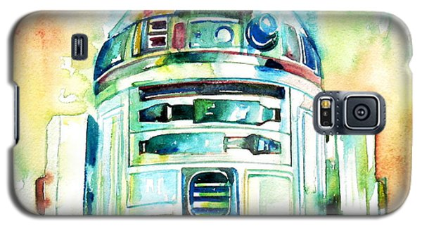 Star Wars Galaxy S5 Case - R2-d2 Watercolor Portrait by Fabrizio Cassetta