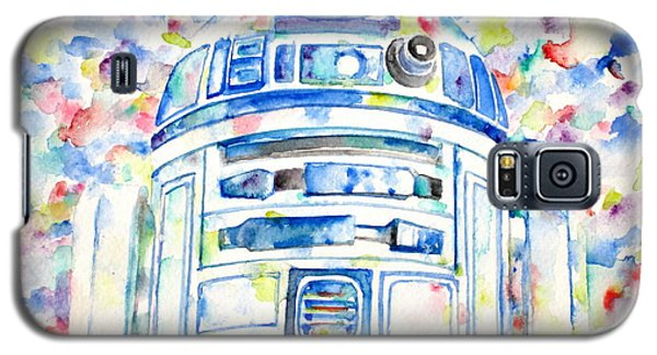 Star Wars Galaxy S5 Case - R2-d2 Watercolor Portrait.1 by Fabrizio Cassetta