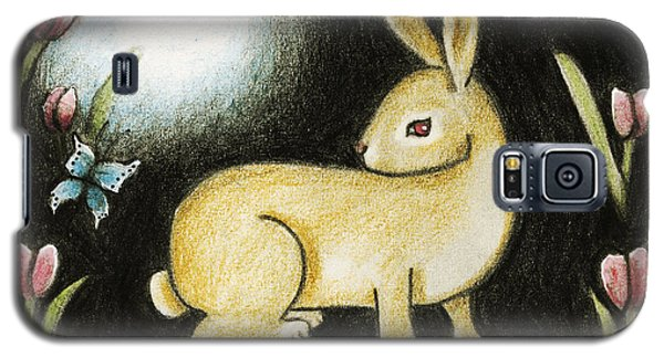 Rabbit And The Butterfly . . . From The Tapestry Series Galaxy S5 Case